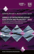 Annals of Entrepreneurship Education and Pedagogy - 2016