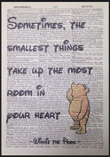 Winnie The Pooh Quote Print Vintage Dictionary Page Picture Wall Art Love Heart