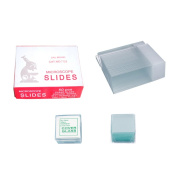 YBB 7105 50-Pieces Blank Microscope Slides & 100-Pieces Square Cover Glass