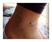 Lucky Charm! // Lucky Elephant Anklet // Silver Elephant Charm Anklet // Chain Anklet // Beach Anklet // Surfer Anklet