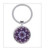 Mandala key ring, Art key ring, Mandala Jewellery, Yoga Jewellery, Mandala key ring