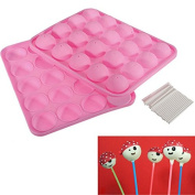Hrph Baking Moulds Kitchen Tools Silicone Tray Pop Cake Stick Mould Lollipop Cupcake Baking Mould