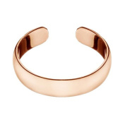 RS JEWELS 925 Sterling Silver Toe Ring.Rose Gold Plated Adjustable Simple Plain Band Ring