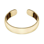 RS JEWELS 925 Sterling Silver Toe Ring.Yellow Gold Plated Adjustable Simple Plain Band Ring