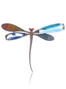 Laura & Alexander Multi-Colour Dragonfly Brooch Pin Jewellery In Gift Box |Mother'S Day Gift