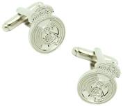 masgemelos - Real Madrid Cufflinks Silver Cufflinks