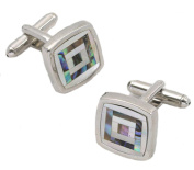 Mother of Pearl & Natural Shell Cufflinks