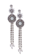 Vincent Filac-BO14208AR-Jaipur-Women's Earrings-Metal-White