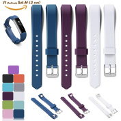 3PCS Fitbit Alta Wrist Band, iFeeker 11 Colours Selection Replacement Bracelet Strap Silicone Watch Bands With Secure Adjustable Buckle Fastener for Fitbit Alta Smart Fitness Watch ( One Size ) - Dark Blue + Modena + White