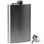 300ml Stainless Steel Hip Flask and Funnel Whisky Pocket Set