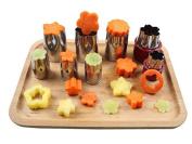 OUMOSI Stainless Steel Flower-Shape Cake Vegetable Fruit Cutter Mould Tool Set of 8