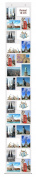 Trendfinding Postcard Photo Curtain 10 x 15 cm Landscape and Portrait Format Photo Wall, Pockets