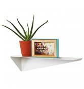 Umbra Stealth 472006 Modern Powder Coated Shelf Can Be Mounted on both sides, White