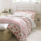 Rose and Bee Bedding by designer Emma Bridgewater, Rose and Hearts in delicate pink