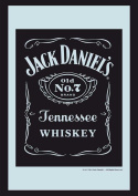 Empire Merchandising 537669 Printed Mirror with Plastic Frame with Wood Effect Featuring Jack Daniel's Whiskey Logo 20 x 30 cm