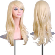 """EmaxDesign Wigs 70 cm / 28"""" ~ High-Quality Cosplay Wig For Women. Long, Full, Curly, Big Wavy, & Heat Resistant. Fashion Glamour Hairpiece with Free Wig Cap & Wig Comb (Colour"""