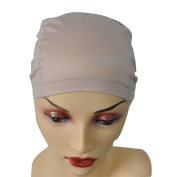Bamboo Fibre Wig Hair Stock Liner Cap Stretch Mesh Net Wig extension Beige
