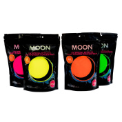 Moon Glow - 400g UV Paint Powder Set of 4 - Neon Special Effects Paint Party Powder Concentrate - Makes up to 160 Litres!