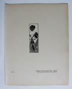 """Aubrey Beardsley - Antique Print - Design For Title-Page. From """"The Yellow Book"""" Volume IV."""