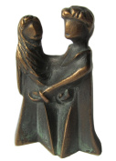 Bronze sculpture Talisman young family on the way 7 cm