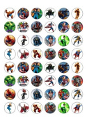 48 Marvel Superheroes Characters Edible Wafer Paper Cake Toppers