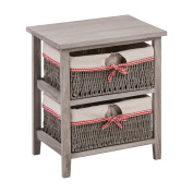 Premier Housewares Cotswold Storage Unit with 2 Woven Baskets - Grey