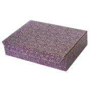 GOLD PAISLEY A4 MAGNETIC CLOSURE BOX
