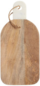 Master Class Rustic Wooden Chopping / Serving Board with Marble Handle, 16 x 35 cm