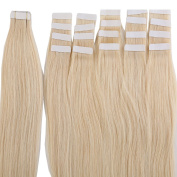 Top 41cm 46cm 50cm 60cm Tape in Hair Extensions 100% Real Remy Human Hair 20pcs 50g per pack