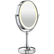 Conair BE118 Double-Sided 10x-1x Polished Nickel Variable Lighting Makeup Mirror