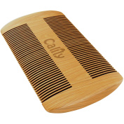 Calily™ Genuine Handcrafted Sandalwood Comb for Men - Pocket Size Moustache and Beard Comb with Premium Synthetic Leather Case / Ultra-Smooth Combing; No Static or Snagging