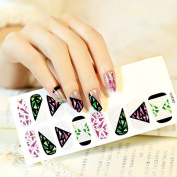 Beauty Stickers Polish Nails Art Sticky Patch Foils Silver Glitter Transparent Black Pink Green Triangle Diamond Nail Decor Q094