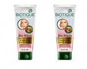 Biotique Bio White Advanced Fairness Face Wash , 150 ml - 2 pk