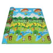 BELLE-LILI 180cm x 200cm Extra Large Kids Toddler Baby Play Mat Carpet Playmat Foam Blanket Rug