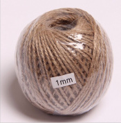 OZXCHIXU(TM) 100m Natural Jute Twine String Rope Floral Craft Wedding Gift Tags Wrap Decor Decoration Ornament