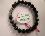 WholesaleGemShop - Golden Obsidian 8 mm Bead Buddha Bracelet