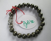 WholesaleGemShop -Pyrite 8 mm Bead Buddha Bracelet