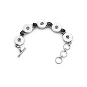 Simple Ever 5-Snaps Bracelet Fit for 18mm DIY Snap Ginger Noosa Charms Pack of 2