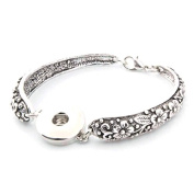 Simple Ever Snaps Bracelet Fit for 18mm DIY Snap Noosa Charms Pack of 2
