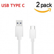 USB Type C Cable, Asstar [2 Pack] Charging Cable for Nexus 6P, Nexus 5X, Oneplus 2, LG G5, HTC 10, MacBook, ChromeBook Pixel and More USB C Charger Devices USB Type C Cable