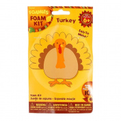 Foamies Foam Thanksgiving Turkey Crafting Kit -10cm - Supplies For 10