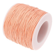 PEACH 1mm Waxed Cotton Braided Cord Wax Polished Macrame Beading Artisan String