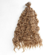 25cm*100cm DIY High-temperature Wire Brown Wool roll Hair row for BJD / Blythe /Barbie Doll Wigs
