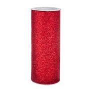 Red Glitter Tulle Netting