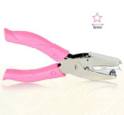Chris-Wang Handheld 1-Hole Metal DIY Craft Paper Punch Puncher Single Hole Punch Hand Tool with Pink Grip