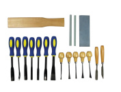 Wood Carving Tools 18-Piece Professional Quality Wood Carving Chisel Set