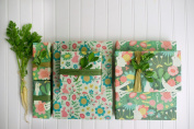 Enchanted Garden/ Wonderland Designer Gift Wrap (6 Sheet Value Pack) - Reversible - Eco-friendly Wrapping Paper By Wrappily