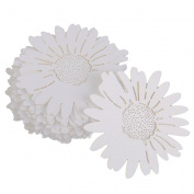 VORCOOL 50pcs Table Name Place Card for Wine Glass Daisy Flower Style - White