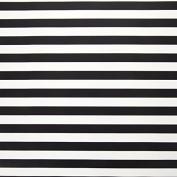Bold Stripe Gift Wrap Paper - Black And White - 80cm x 6.1m Long Roll - 4.6sqm