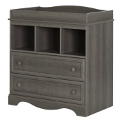 South Shore Savannah Changing Table with Drawers, Grey Maple